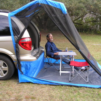 Dodge Caravan and Camp Chairs Relax bug free!